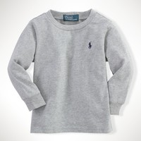 Long-Sleeved Cotton Tee - T-Shirts   Infant Boy (9M–24M) - RalphLauren.com