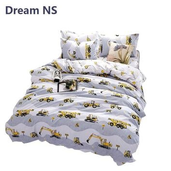 AHSNME Boy Bedding Set Construction Vehicles Duvet Cover Engineering Tools Bedlinens Child Birthday Gift Bedspreads