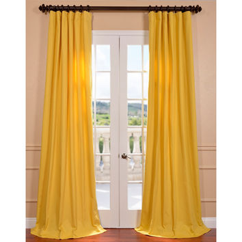 Nice Half Price Drapes PRTW S04 108 Mustard Yellow Cotton 108 Inch Twill Curtain
