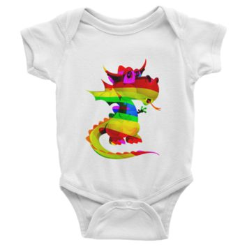 Draco Rainbow Infant short sleeve one-piece