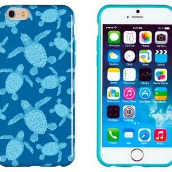 "iPhone 6 Case, DandyCase PERFECT PATTERN *No Chip/No Peel* Flexible Slim Case Cover for Apple iPhone 6 (4.7"" screen) - LIFETIME WARRANTY [Sea Turtles]"