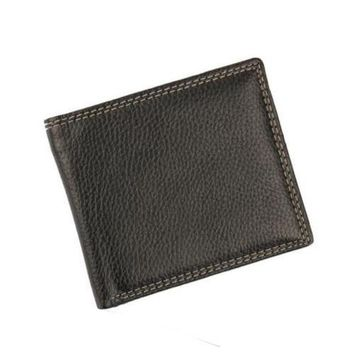 Men's Designer PU Leather Slim Wallet Ultra Thin Holder Organizer Coin Purse for Card Cash Receipt