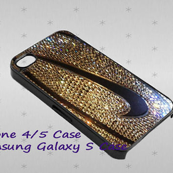 Nike Logo Golden Glitter Basketball cover case for iphone case, Samsung Galaxy Case, iPod Case, HTC Case, Blackberry Case, Sony Case