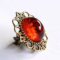 Eye of Sauron Ring Ruby Red