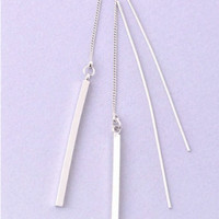 Drop Bar Earrings-Available in Gold & Silver