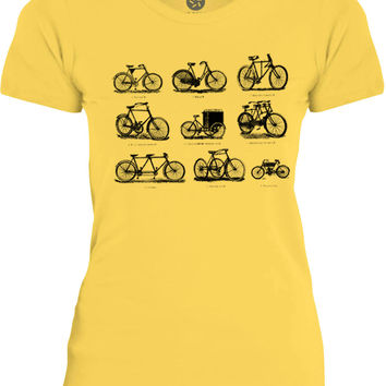 Big Texas Vintage Bicycles (Black) Womens Fine Jersey T-Shirt