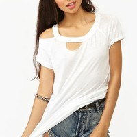 Slashed Tee in What's New at Nasty Gal