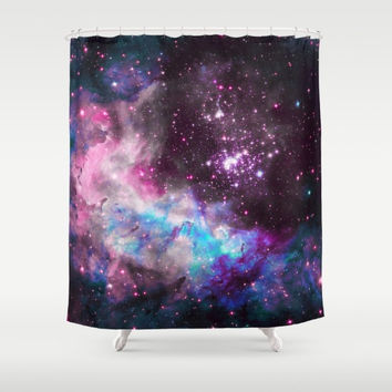 "Shower Curtain - Cluster Westerlund 2 in colors - 71"" by 74"" Home Decor, Bathroom, Bath, Dorm, Girl, Decor, Stars, Space, Cosmos"