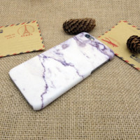 Light Purple Marble Phone Case Cover for Apple iPhone 7 7 Plus 5S 5 SE 6 6S 6 Plus 6S Plus + Nice gift box! LJ160926-004