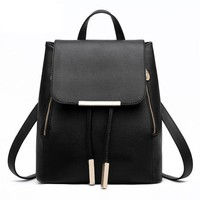 Women Backpack High Quality PU Leather Mochila Escolar School Bags