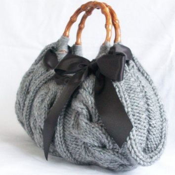 Handbag Gray Bag Nr046 by NzLbags on Etsy