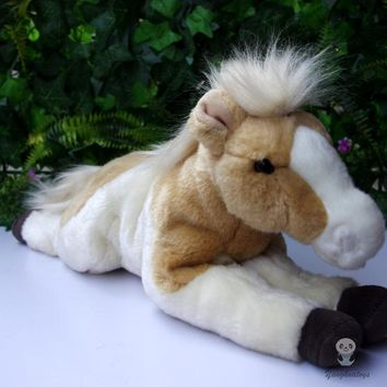 Lying Brown Pony/Horse Stuffed Animal Plush Toy 10""