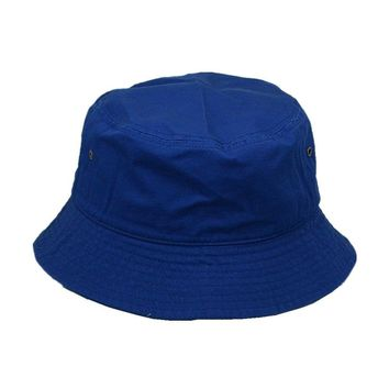 New For Women's Men's Bucket Hat Cap Fishing Boonie Brim visor Sun Safari Blue