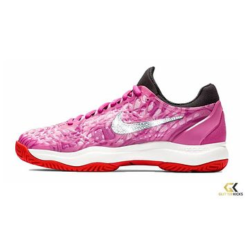 NikeCourt Zoom Cage 3 + Crystals - Active Fuchsia Psychic Pink 59e63dd79