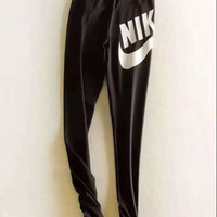"""Nike"" Women Fashion Print Stretch Trousers Pants Sweatpants"