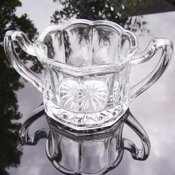 Vintage Chippendale Sugar bowl, Chippendale Glassware, Very Collectable, 1930s