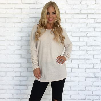 The Snuggle Is Real Sweater in Cream
