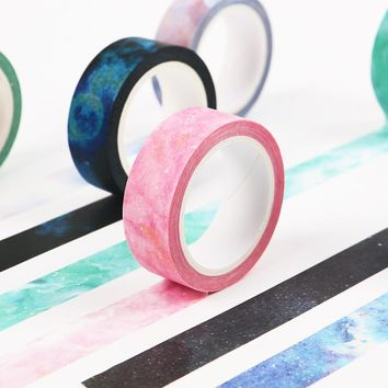 2PCS 1.5cmX8m The Fantastic Dream Color Decorative Washi Tape DIY Scrapbooking Masking Craft Tape School Office Supply