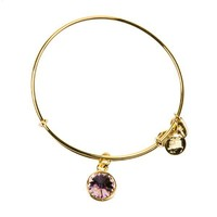 Alex and Ani June Birthstone Charm Bangle