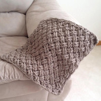 Crochet Pattern for Photography Prop Diagonal Weave Blanket - Any Size - Welcome to sell finished items