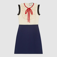 Gucci Silk wool contrast dress