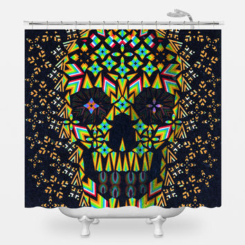 Skull 6 Shower Curtain