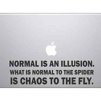 Chaos Famous Quote Decal Vinyl Sticker Skin For MacBook Pro Air Laptop Apple Mac