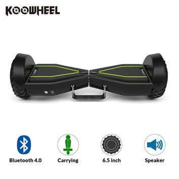 Koowheel 6.5 Inch Hoverboard 2 Wheels Electric Skateboard Bluetooth Portable Self Balance e Scooter with LED Hover Board