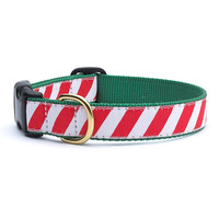 Peppermint Stripe Dog Collar