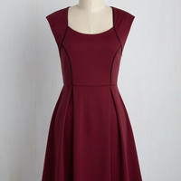 Talking 'Bout My Delegation Dress in Wine | Mod Retro Vintage Dresses | ModCloth.com