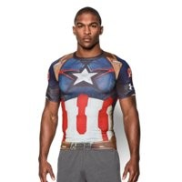 Under Armour Men's Under Armour Alter Ego Captain America Compression Shirt