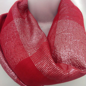 Holiday Red Square Shawl, Womens Winter Scarf, Holiday gift, Piano shawl, Gift for Mother, Gift for coworker, under 30 gift