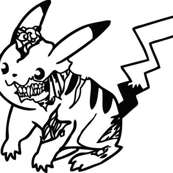 Zombie Monster PIKACHU Decal Sticker