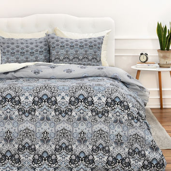 Aimee St Hill Farah Blooms Gray Duvet Cover