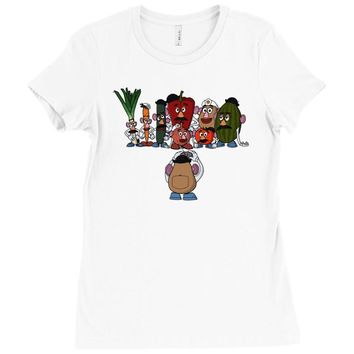 potato family Ladies Fitted T-Shirt