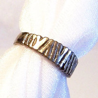 Sterling Silver Ring: Woodland Tree Trunks - Size 7 - A2008