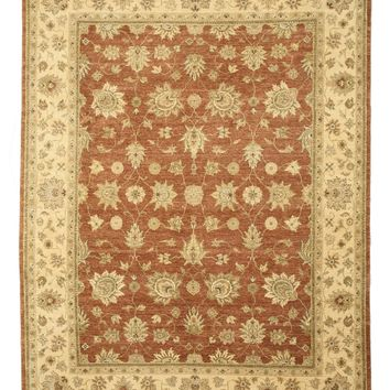EORC Hand-knotted Wool Rust Traditional Oriental Jaipur Rug