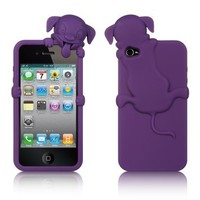 IPHONE® 4S / IPHONE® 4 COMPATIBLE HIGH-END SKIN CASE PURPLE DOG