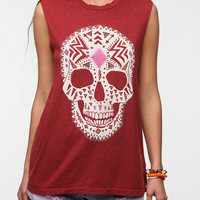 Urban Outfitters - Truly Madly Deeply Boho Skull Muscle Tee