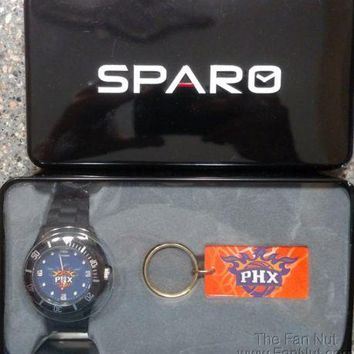 Phoenix Suns Spirit Style Watch and Keychain Gift Set NBA Basketball