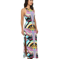 Mara Hoffman Maxi Tank Dress Rainbow Bird Black - 6pm.com