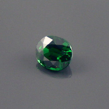 Tsavorite Garnet: 0.61ct Green Oval Shape Gemstone, Natural Hand Made Faceted Gem, Loose Precious Mineral, OOAK Crystal Jewelry Supply 20206