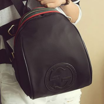 GUCCI  new fashion backpack women with red green stripe shoulder bag Black