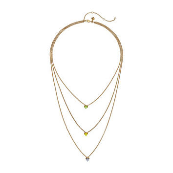 Rebecca Minkoff Tiered Spear Necklace Antique Gold/Rainbow Opal - Zappos.com Free Shipping BOTH Ways
