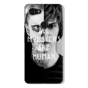 All Monsters Are Human AHS American Horror Story Evan Peters Google Pixel 3 XL Case | Naylacase