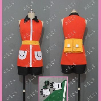 Pocket Monsters Sapphire Cosplay Costume with bag and glovesKawaii Pokemon go  AT_89_9