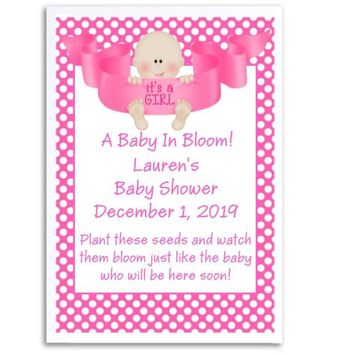 8 Its A Girl Baby Shower Seed Favors Light Skin