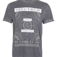 Washed Black Burnout Spectrum T-Shirt