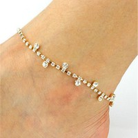 Jewelry Ladies Cute Gift Stylish Sexy Shiny New Arrival Rhinestone Beach Fashion Accessory Anklet [6768763143]