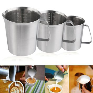 stainless steel graduated/baking/liquid/milk cup Coffee pitcher measure cups for cooking tool 500/700/1000ml